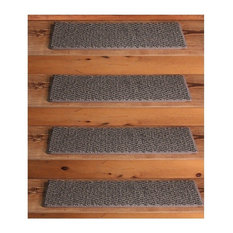 "Dog Assist Carpet Stair Treads 8""x24"" Weavers Guild Nomad Grey, Set Of 13"