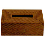 DWBA Bath Collection - DWBA Malacca Tissue Box Holder Cover Tray Dispenser Tissue Case, Rattan - DWBA Malacca Tissue Box Holder Cover Tray Dispenser Tissue Case - Rattan. Countertop hand towel box. For tissue paper or towels. Created to bring everlasting beauty; and designed to increase the level of elegance in your bathroom by giving it a unique touch of elegance.