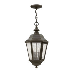 Hinkley Edgewater Outdoor Large Hanging Lantern, Oil Rubbed Bronze