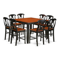 9-Piece Counter Height Pub Set Pub Table And 8 Dining Chairs