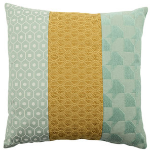 Contrast Stripe Patterned Cushion
