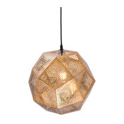 Modern Contemporary Ceiling Lamp, Gold, Metal