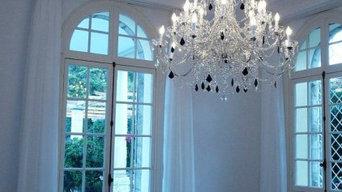 lampadario artigianale su misura in cristallo