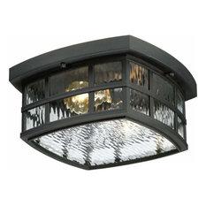 Quoizel Stonington Outdoor Lantern, Mystic Black
