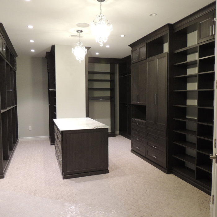 very large walk in closet with ample single, long and mid hang space.