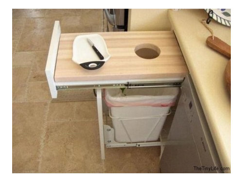 Pull Out Cutting Board Over Trash
