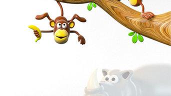 Stickers Chambre d'Enfants Jungle