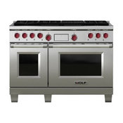 Wolf 48-Inch Gas Range With Charbroiler and Griddle