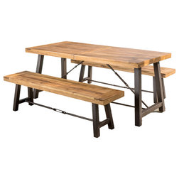 Lovely Rustic Outdoor Dining Sets by GDFStudio