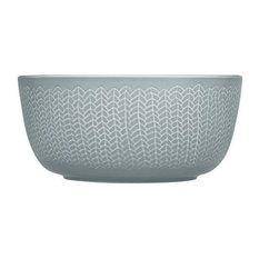 "Sarjaton Tableware Collection, Letti/Pearl Gray, Bowl 23oz, 5.6""Dx2.7"""