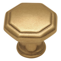 Belwith Hickory 1-1/8 In. Conquest Lustre Brass Cabinet Knob P14004-LB Hardware