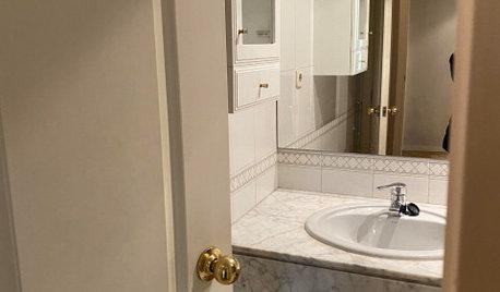 Antes y después: De espacio agobiante a baño moderno y cálido