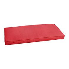 Sunbrella Textured Red Indoor/Outdoor Bench Cushion, 60x19