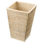 DWBA Bath Collection - DWBA Malacca Square Wide Wastebasket Trash Can For Bathroom, Kitchen, Rattan - DWBA Malacca Square Wide Wastebasket Trash Can for Bathroom, Kitchen - Rattan. Created to bring everlasting beauty; this unique Paper Bin is designed to increase the level of elegance in your home.
