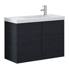 Vanity Cabinet With Drop-in Ceramic Sink, Wenge