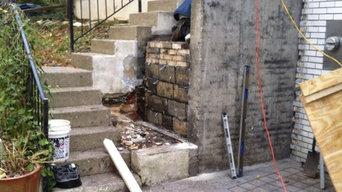 Rike Concrete and Stone entry rebuild