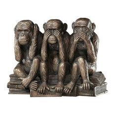 Hear-No, See-No, Speak-No Evil Monkeys Statue