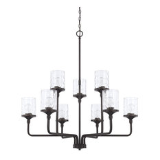 Capital Lighting 428891MB-451 Colton 9 Light Chandelier, Matte Black