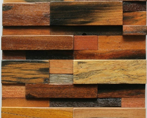 Ancient wood mosaic tile backsplash natural wood mosaic pattern NWMT005 -  Mosaic Tile