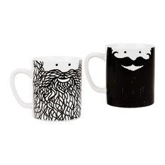 Hubert and George Beard Mug Set