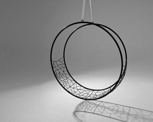 swing chair hanging hammock   circle   wheel   studio stirling  rh   houzz