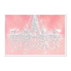 """Oliver Gal Olivia's Easel """"Dramatic Entrance Princess"""" Framed Art, Pink, 26""""x18"""""""