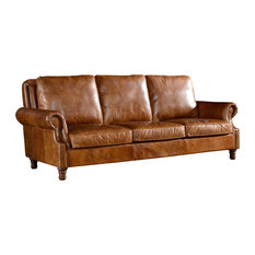 Crafters And Weavers   Loretta English Sofa, Light Brown   Sofas