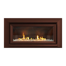 Escea Indoor Gas Florentine Velo Front Fireplace, Bronze