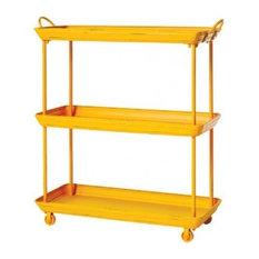 Painted Metal Trolley, Yellow