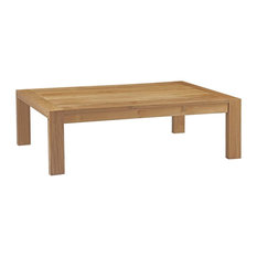 Upland Outdoor Teak Wood Coffee Table, Natural