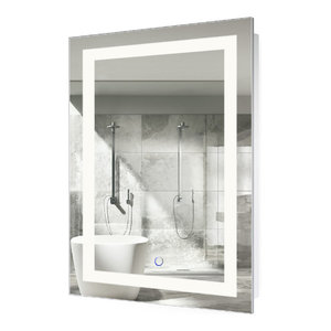 "LED Lighted Bathroom Mirror With Defogger and Dimmer, 24""x36"""