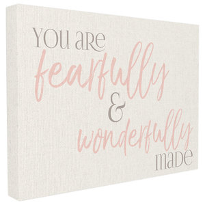 Stupell Industries Fearfully Wonderfully Made Pink Typography Wall Plaque Art 10 x 0.5 x 15 Proudly Made in USA brp-2017/_wd/_10x15