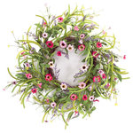Melrose International - Wild Flower Bloom Wreath - A beautiful wreath with a variety of flowers and greenery.