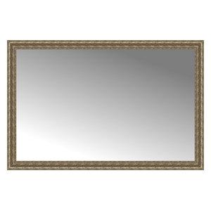 """59""""x39"""" Custom Framed Mirror, Distressed Silver"""
