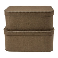 Merveilleux Bigso Box Of Sweden, Inc   Love Set Of 2 Nested Lidded Boxes Canvas,