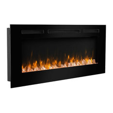 """PuraFlame 50"""" In, Wall Recessed Electric Fireplace, Touch Screen Control Panel"""