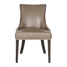 Safavieh Amanda Dining Chairs, Set of 2, Clay Bicast Leather