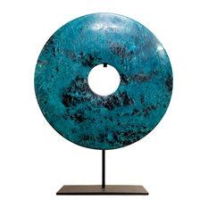 Turquoise Jade Bi-Disc Ornament, 40