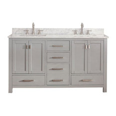 Double Sink Vanity in Chilled Gray Finish