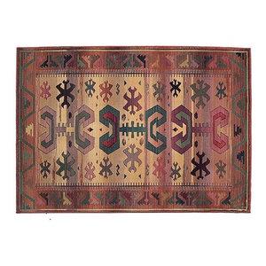 Gabbeh Rectangular Traditional Rug, Red, 120x180 cm