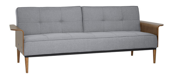 Joni Fabric Tufted Convertible Futon Couch Gray