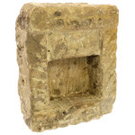 Homart - Stone Altar - Stone altars, which were once installed at the threshold of homes, have been salvaged to preserve the consecrated custom. Showing the weathering of a lifetime of use the size and detail of each piece will vary.