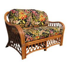 Montego Bay Love Seat In Cinnamon Bellecrest Fabric