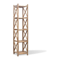 VidaXL 5-Tier Square Bamboo Shelf