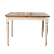 GDFStudio   Bronwen Wood Dining Table With Leaf Extension   Dining Tables
