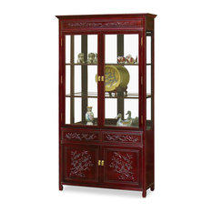 """40"""" Rosewood Flower and Bird Motif China Cabinet"""