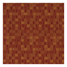Red And Orange Geometric Boxes Contract Grade Upholstery Fabric By The Yard