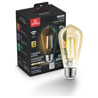 Wi-Fi Smart 60W Equivalent Vintage Filament Dimmable Amber Glass LED Bulb