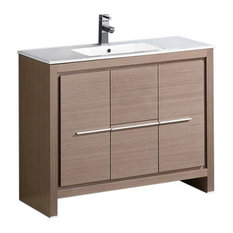 Fresca Trieste Allier 40   Modern Bathroom Vanity, FVN8140GO in Light Wood