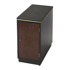 Wonderful Butler Specialty Company   Onyx Leather Chairside Table   Side Tables And End  Tables